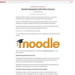 Moodle Integration with Other Systems - Virasat Solutions Blog - Quora