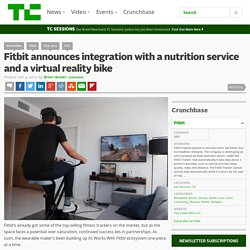 Fitbit announces integration with a nutrition service and a virtual reality bike