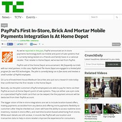 PayPal's First In-Store, Brick And Mortar Mobile Payments Integration Is At Home Depot