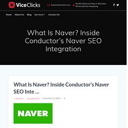 What Is Naver? Inside Conductor's Naver SEO Integration - ViceClicks