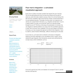 Poor man's integration – a simulated visualization approach – R is my friend
