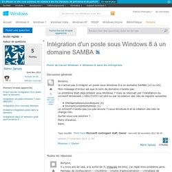 Intégration d'un poste sous Windows 8 à un domaine SAMBA