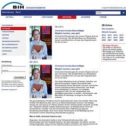 Integrationsämter - Schwerpunkt: Chronisch kranke Beschäftigte
