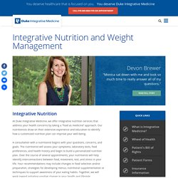 Integrative Nutrition and Weight Management - Duke Integrative Medicine