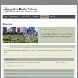 Integrative Health Partners - Resources