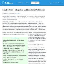 Lisa Dorfman - Integrative and Functional Nutritionist