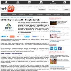 MECD intègre le dispositif « Tremplin Carnot » - 13/07/16