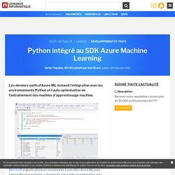 TORRENS WILLIAM Python intégré au SDK Azure Machine Learning