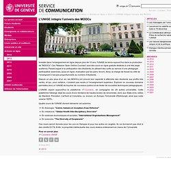 L'UNIGE intègre l'univers des MOOCs - SERVICE DE COMMUNICATION