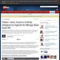 Chine : Acer, Lenovo et Sony int