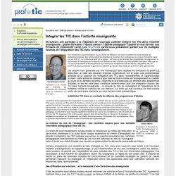 Intégrer les TIC dans l'activité enseignante