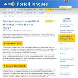Comment intégrer un assistant de langues vivantes à ses cours ?