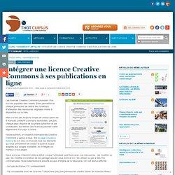 Intégrer une licence Creative Commons à ses publications en ligne
