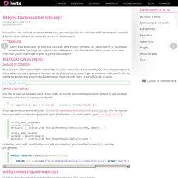 Intégrer Elasticsearch et Symfony2