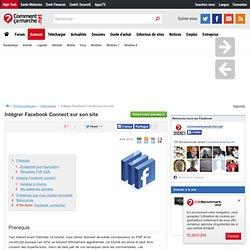 Intégrer Facebook Connect sur son site
