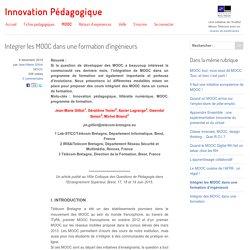 Intégrer les MOOC dans une formation d'ingénieurs