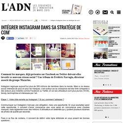 Intégrer Instagram dans sa stratégie de com'