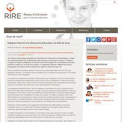Intégrer Internet à la démarche éducative, le défi de tous