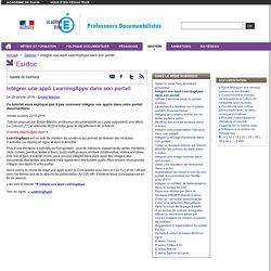 Intégrer une appli LearningApps dans son portail