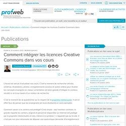 Comment intégrer les licences Creative Commons dans vos cours