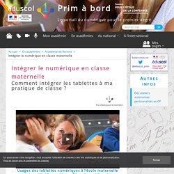 Intégrer le numérique en classe maternelle