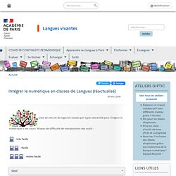 Intégrer le numérique en classes de Langues (réactualisé)