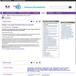 Intégrer une page Facebook dans son portail