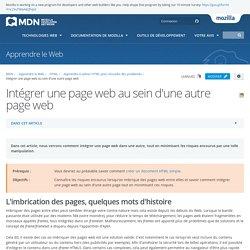 Intégrer une page web au sein d'une autre page web - Apprendre le Web