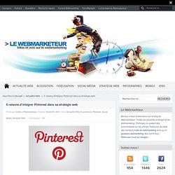 6 raisons d'intégrer Pinterest dans sa stratégie web