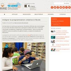 Intégrer la programmation créative à l'école