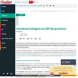 Comment intégrer un IEP de province
