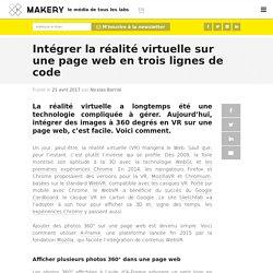 Intégrer la réalité virtuelle sur une page web en trois lignes de code