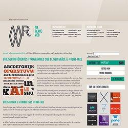 Font-Face : Intégrer une typographie non-standard