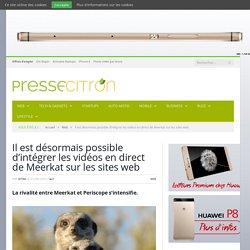 Intégrer les vidéos en direct de Meerkat sur une page web