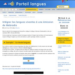 Intégrer les langues vivantes à une émission de Webradio - Portail langues