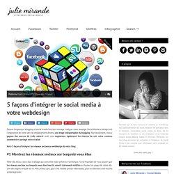 5 façons d'intégrer le social media à votre webdesign