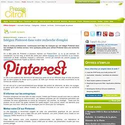 Intégrez Pinterest dans votre recherche d'emploi - Aurora