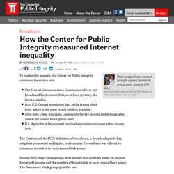 How the Center for Public Integrity measured Internet inequality