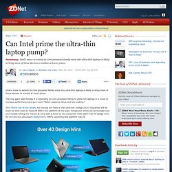 Can Intel prime the ultra-thin laptop pump?