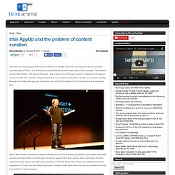 Intel AppUp and the problem of content curation