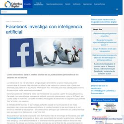 Facebook investiga con inteligencia artificial