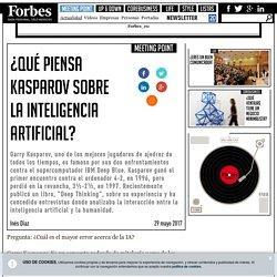¿Qué piensa Kasparov sobre la Inteligencia Artificial?