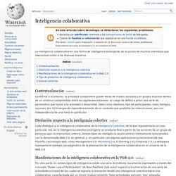Inteligencia colaborativa