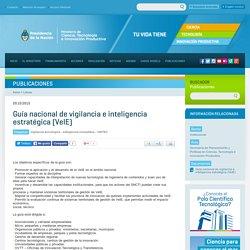 Guía nacional de vigilancia e inteligencia estratégica (VeIE)