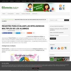 REGISTRO PARA EVALUAR LAS INTELIGENCIAS MULTIPLES DE LOS ALUMNOS -Orientacion Andujar