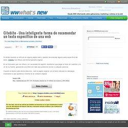 Citebite – Una inteligente forma de recomendar un texto específico de una web