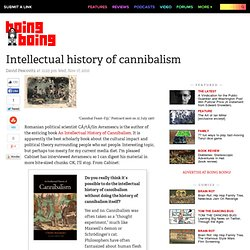 Intellectual history of cannibalism