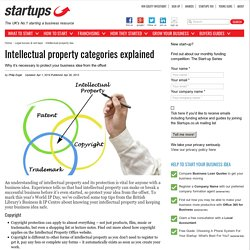 Intellectual property categories explained - Startups.co.uk: Starting a business advice and business ideas