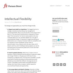 Intellectual Flexibility