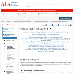 Intellectual Freedom and Censorship Q & A - ALA